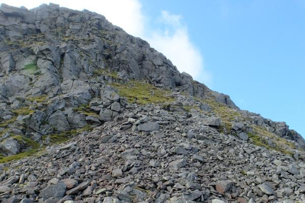 Photo of Looking back to rocky descent off Stuc a' Chroin